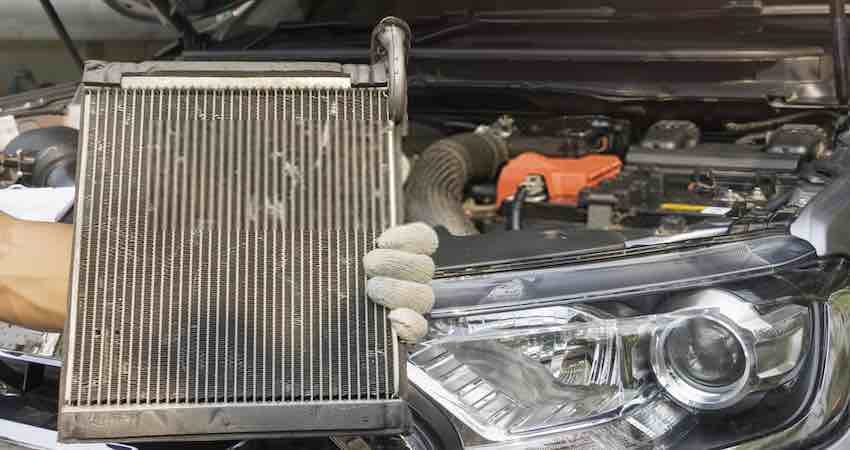 how to fix a cracked radiator