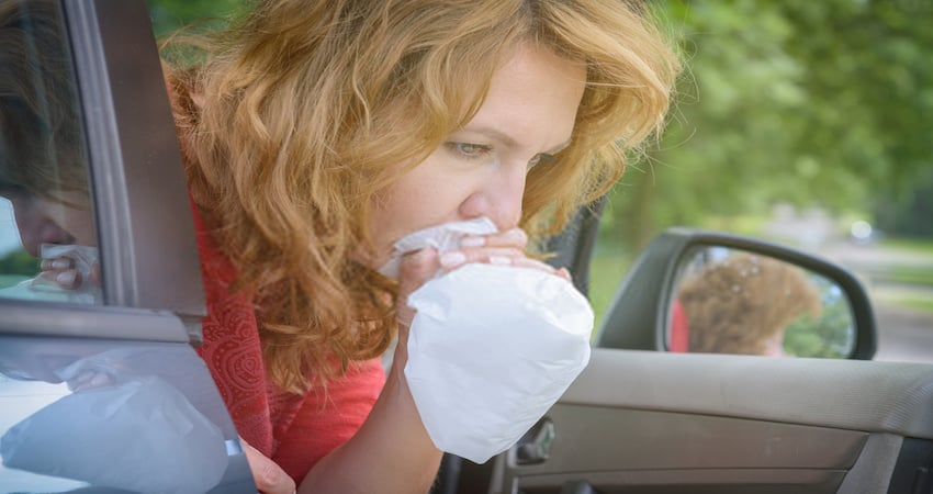 How to Clean Vomit From the Car