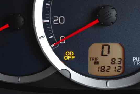 What is O/D off on Dash Board